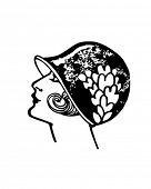 Flapper - Twenties Gal - Retro Clip Art