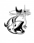 Catch The Big Ones - Retro Clip Art