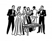 stock photo of swinger  - Cocktail Party  - JPG