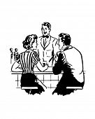 Talking With The Soda Jerk - Retro Clip Art