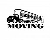 stock photo of truck-stop  - Long Distance Moving  - JPG