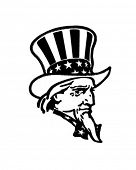 Uncle Sam - Retro Clip Art