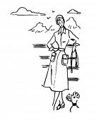 picture of poodle skirt  - Lady With Dog  - JPG