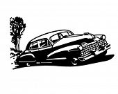 Постер, плакат: Ретро автомобиль клипарт иллюстрация