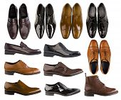 collection of men footwear