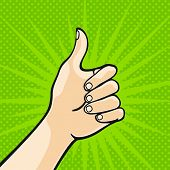 stock photo of pop art  - Thumb up  - JPG