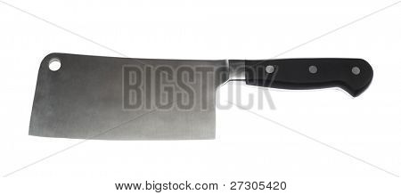 meat cleaver isolated over white background