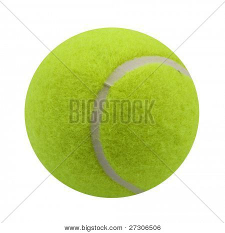 tennis ball,Isolated on white with clipping paths.