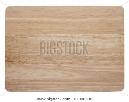 chopping board,isolated on white with clipping path