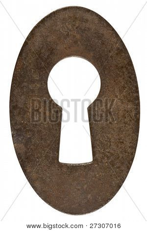 Keyhole,isolated on white with clipping