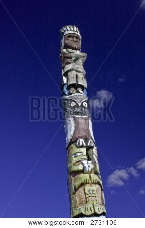 Totem Pole With Clouds