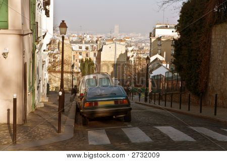 Streets Of Paris. Montmartre