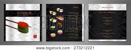 Sushi Bar Menu Design Japanese
