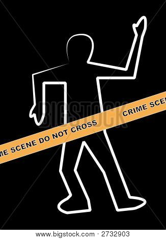 Body Crime Scene Do Not Cross