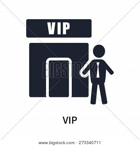 poster of Vip Icon Isolated On White Background. Vip Icon Simple Sign. Vip Icon Trendy And Modern Symbol For G
