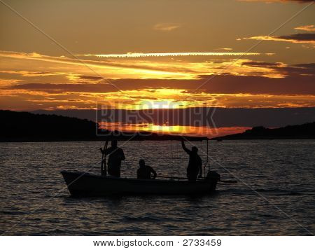 Anglers On Sunset