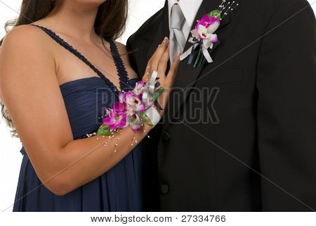 Prom or wedding corsage and boutonniere