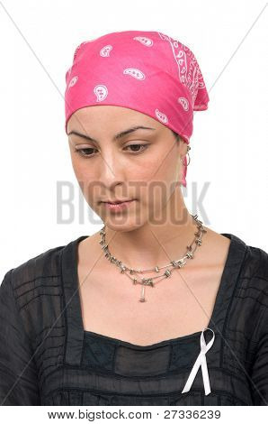 Worried real breast cancer survivor 2 months after chemotherapy