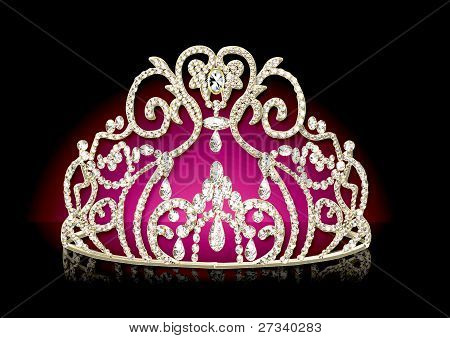 Diadem Feminine With Reflection