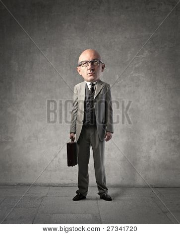 Businessman with oversize head
