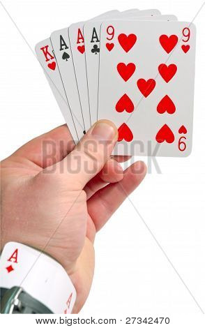 Cheating In Poker With Ace In Sleeve