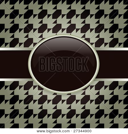 Brown design pattern card