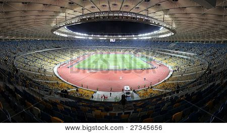 Panoramic View Of Olympic Stadium (NSC Olimpiysky) In Kyiv