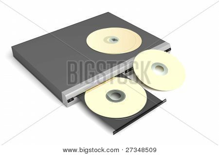 Disc Player With Golden Discs