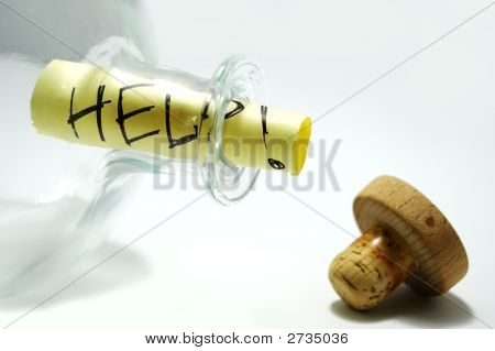 Bottle With Help Message