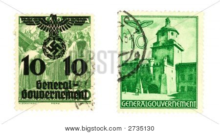 Nazi Post Stamps