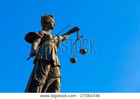 Lady Justice, Frankfurt, Germany.