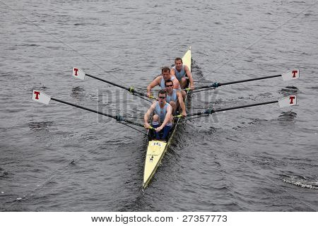 Royal Air Force Rowing Club Mens Fours races in the Head of Charles Regatta