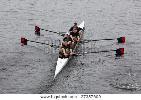 University of Pennsylvania Mens Fours races in the Head of Charles Regatta