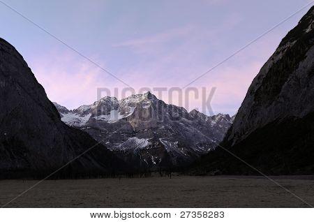 Natural Reserve Ahornboden Before Sunrise