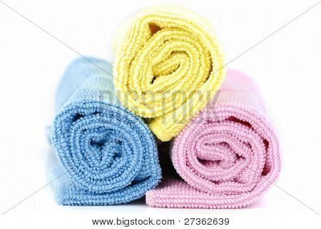 Towels isolated on the white