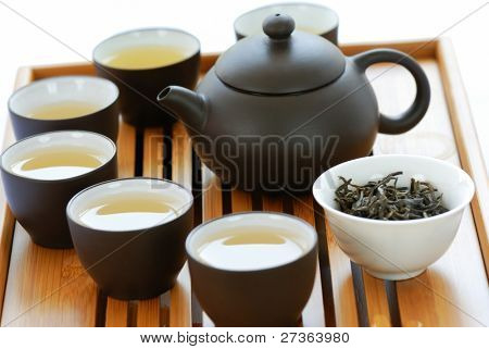 Teapot and Teacups on Teaset
