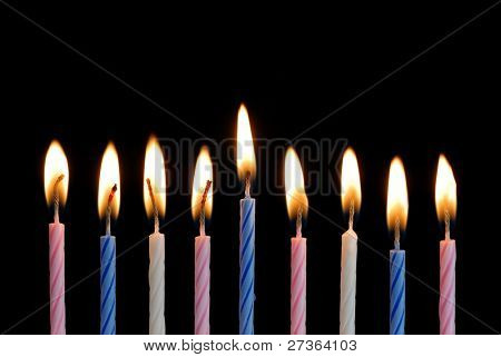 Birthday Candles Background