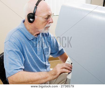 Senior Man Votes