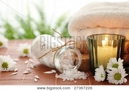 Spa still life over bright background
