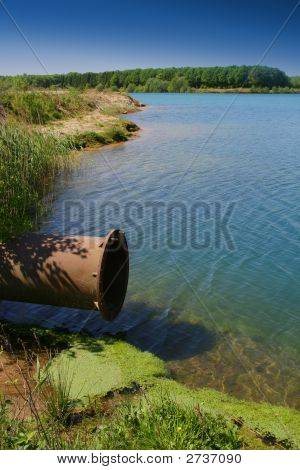 Pipeline Ending In Lake