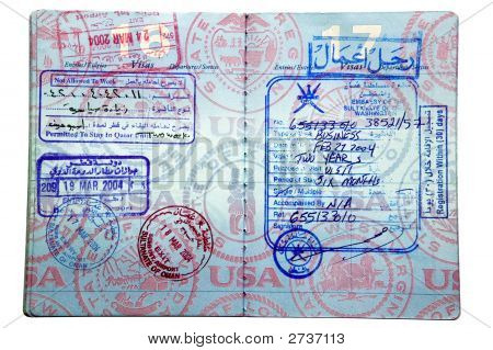 Miscellaneous Middle Eastern Visa'S And Passport Stamps