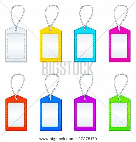 Color tags with ropes, set