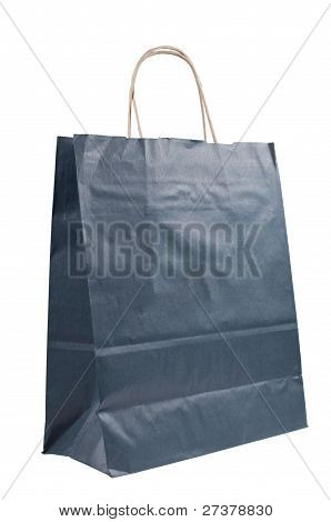 Paper Bag With Handles Close Up