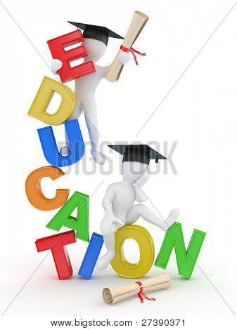 Человек с дипломом на текст образования d Фото изображение  Постер плакат Человек с дипломом на текст образования 3d холст на подрамнике