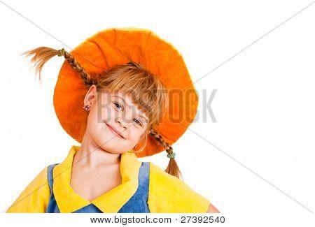 Lovely girl in a hat
