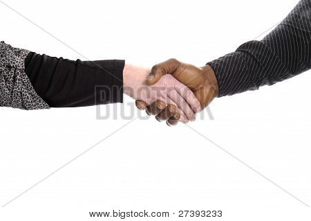 Black And White Hand Giving A Handshake