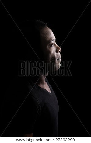 Profile Of Young Black Man