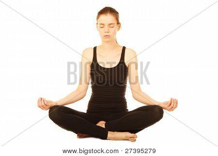 Healthy Girl Doing Yoga