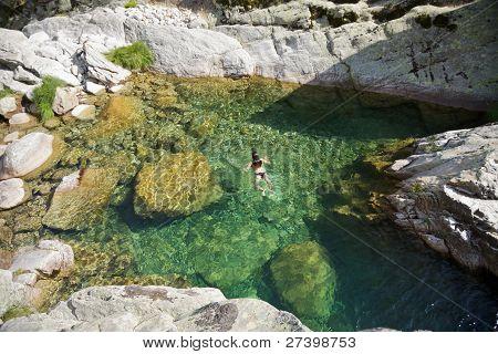 Swimming At A Natural Pool