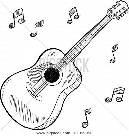 Acoustic guitar sketch